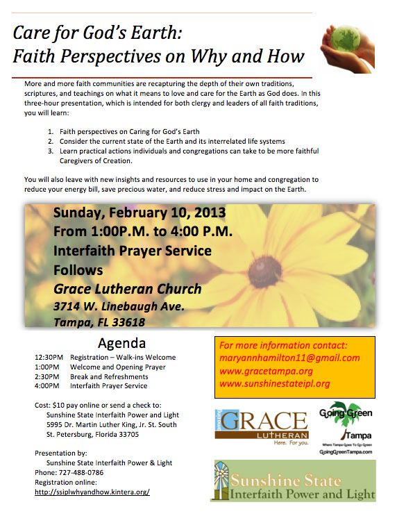 Interfaith Workshop and Prayer Service