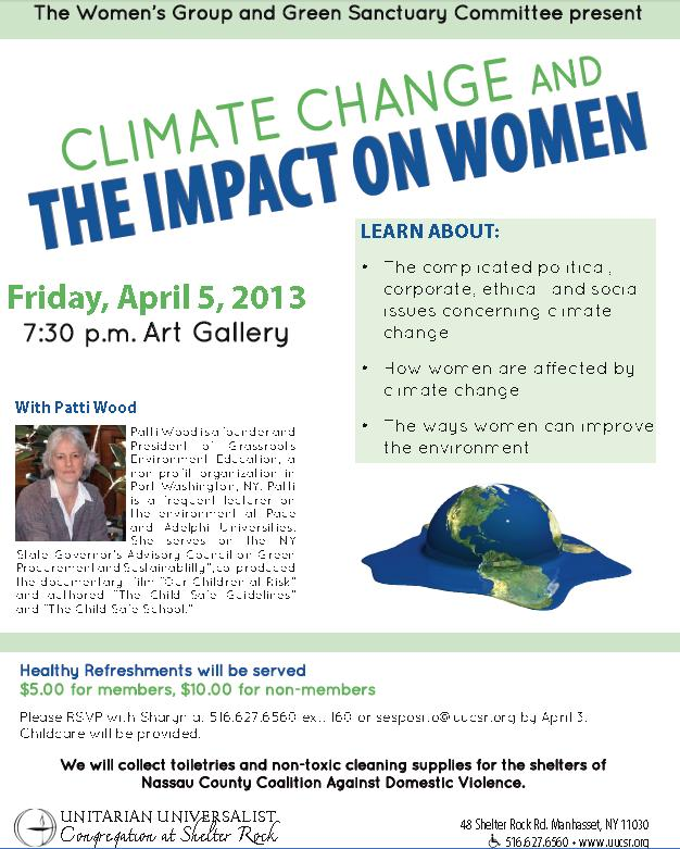 Climate Change & The Imapct On Women