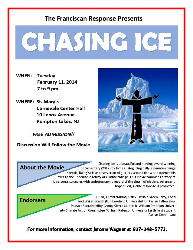 """Chasing Ice"" Screening and Discussion"