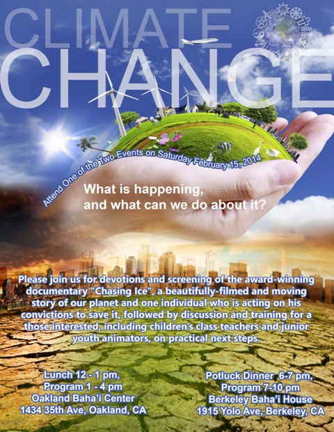 "Climate Change - Devotions, Movie ""Chasing Ice"", Discussion and Action Planning"