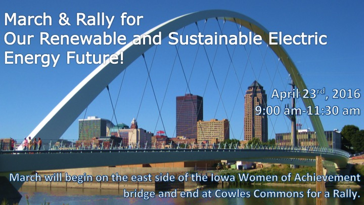 Our Renewable and Sustainable Electric Energy Future: March & Rally