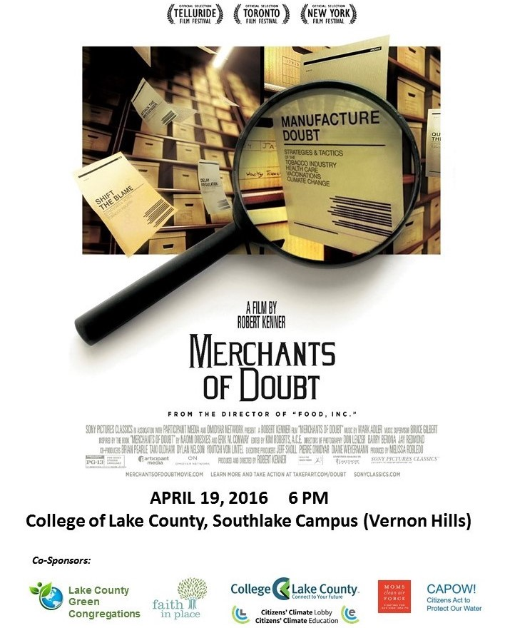 Merchants of Doubt --Film and Discussion