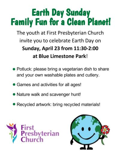 Earth Day Sunday: Family Fun for a Clean Planet!