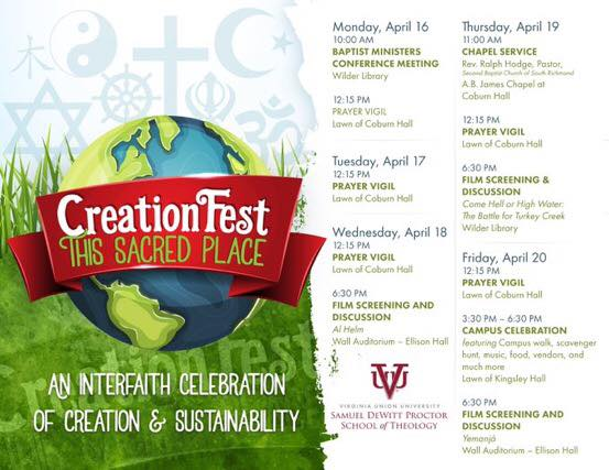 "Creation Fest 2018 - ""This Sacred Place: An Interfaith Celebration of Creation and Sustainability"""