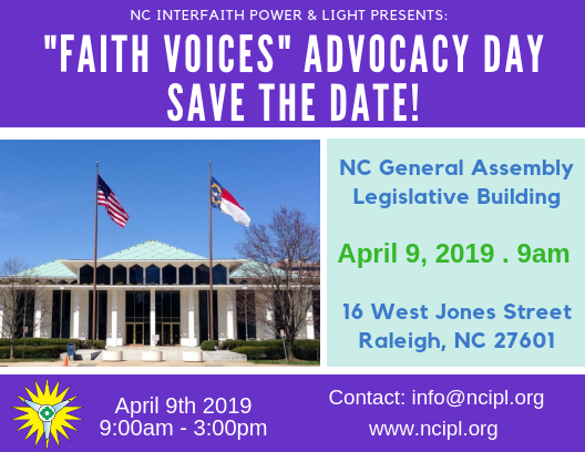 NCIPL Faith Voices Advocacy Day at the NC Legislature