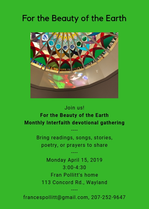 """For the Beauty of the Earth"" interfaith devotional gathering"