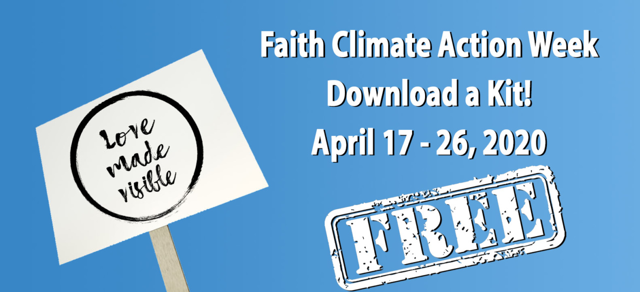 Faith climate Action Week kit Free