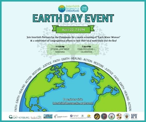 One Water Partnership Earth Day Event, Interfaith Partners for the Chesapeake, Maryland ONLINE